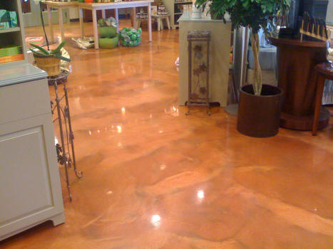 Pearlescent Metallic Epoxy Floor