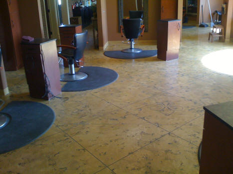 Trowled Tuscan Stained Concrete Epoxy Floor