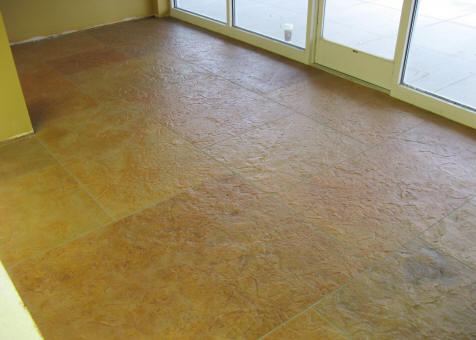 Cottage Inn Thin Stamped Overlay Concrete urethane