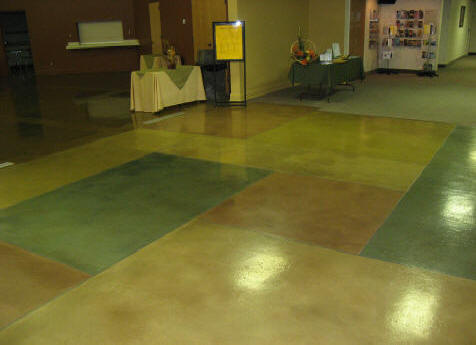 Shepherds Gate Church Thin Stained concrete overlay epoxy