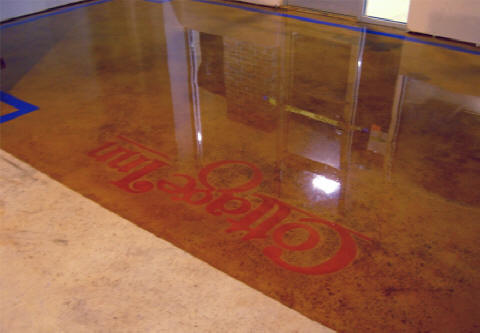 Acid stained concrete epoxy