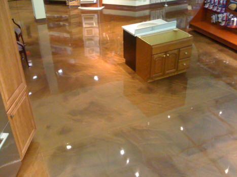 Liquastone Reflector Pearlescent Metallic Epoxy Floor
