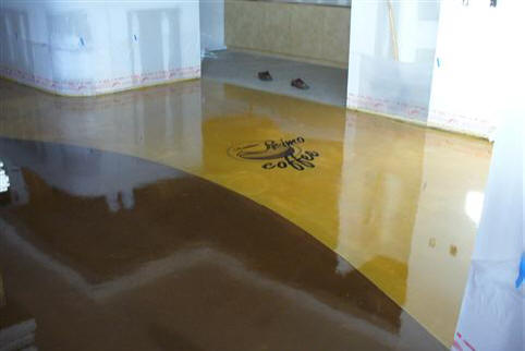 Primo Coffee House Thin Stained Concrete Overlay